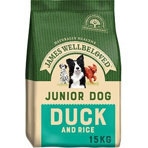 James Wellbeloved  Junior Dog Duck & Rice 15kg ***£47.99*** COLLECT IN PERSON FOR THIS SPECIAL ONLINE DEAL  !!!