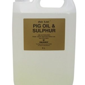 Gold Label – Pig Oil & Sulphur X 5Ltr – FREE DELIVERY !!!