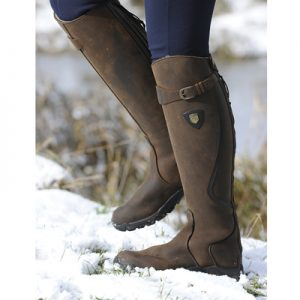 Mark Todd *Clearance* Fleece Lined Tall Winter Boot Brown – FREE DELIVERY !!!