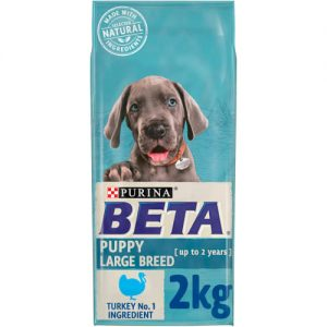 PURINA BETA Puppy Large Breed Turkey & Rice 2kg ***£6.99*** COLLECT IN PERSON FOR THIS SPECIAL ONLINE DEAL  !!!
