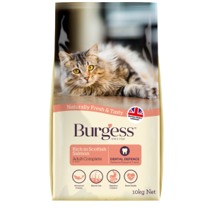 Burgess Adult Cat Scottish Salmon Complete  10kg ***£24.99*** COLLECT IN PERSON FOR THIS SPECIAL ONLINE DEAL !!! !!!