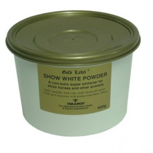 Gold Label Show White Powder For Horses-500g  ***£7.50*** COLLECT IN PERSON FOR THIS SPECIAL ONLINE DEAL  !!!