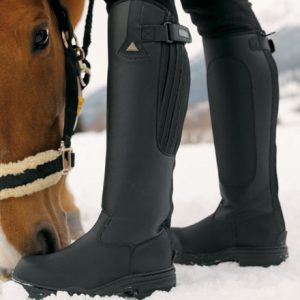 Mark Todd *Clearance* Fleece Lined Tall Winter Boot Black – FREE DELIVERY !!!