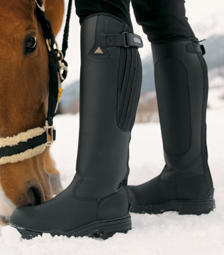Mark Todd *Clearance* Fleece Lined Tall Winter Boot black FREE DELIVERY !!!