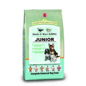 James Wellbeloved Dog JuniorDuck & Rice 15kg – FREE DELIVERY !!!