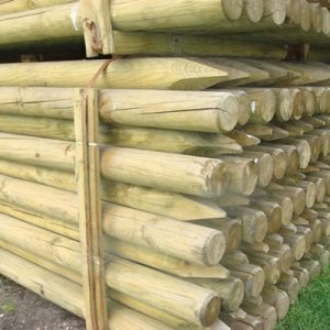 FULL ROUND WOODEN FENCE POST  EACH ***£3.99*** COLLECT IN PERSON FOR THIS SPECIAL ONLINE DEAL !!!